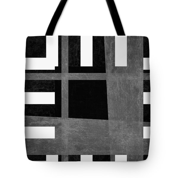 Tote Bag featuring the photograph On The Tarmac Designer Series 3a12bw by Carol Leigh