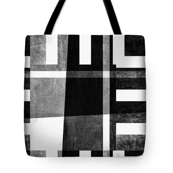 Tote Bag featuring the photograph On The Tarmac Designer Series 3a14bwflip by Carol Leigh