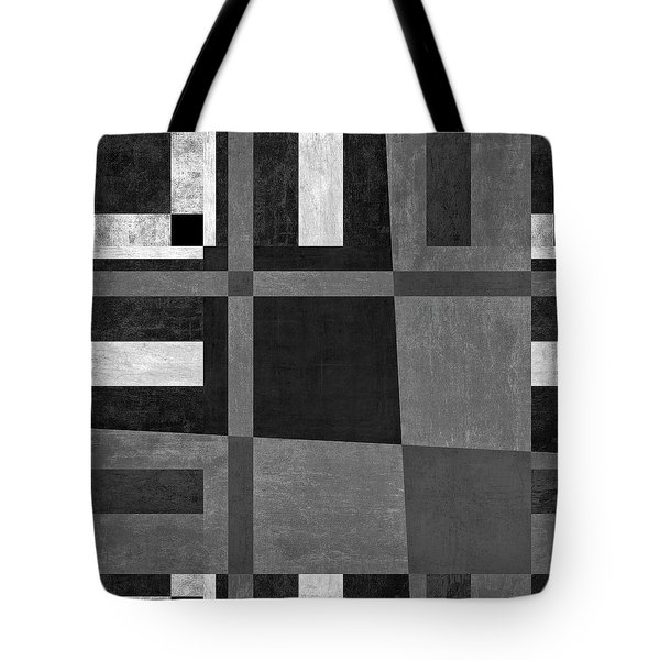 Tote Bag featuring the photograph On The Tarmac Designer Series 3a16bw by Carol Leigh