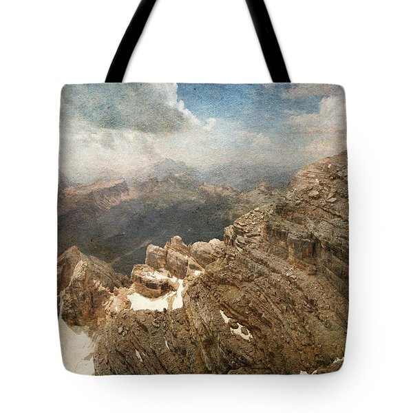 On The Top Of The Mountain  Tote Bag