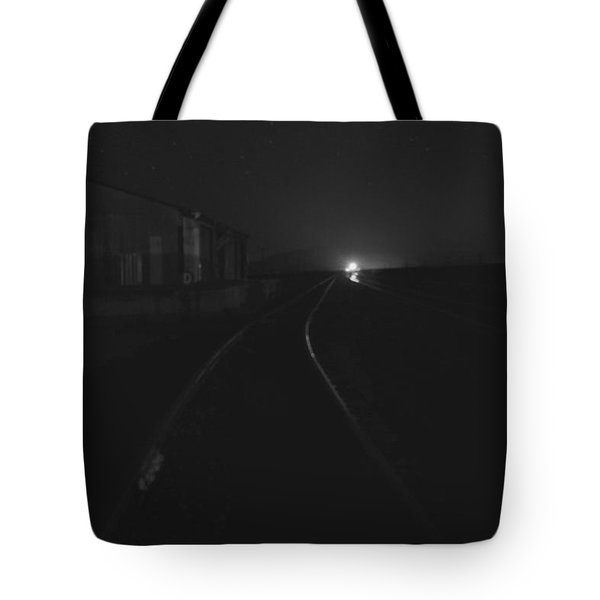 On The Tracks At Night Tote Bag