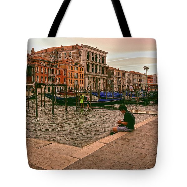 Tote Bag featuring the photograph On The Waterfront by Anne Kotan