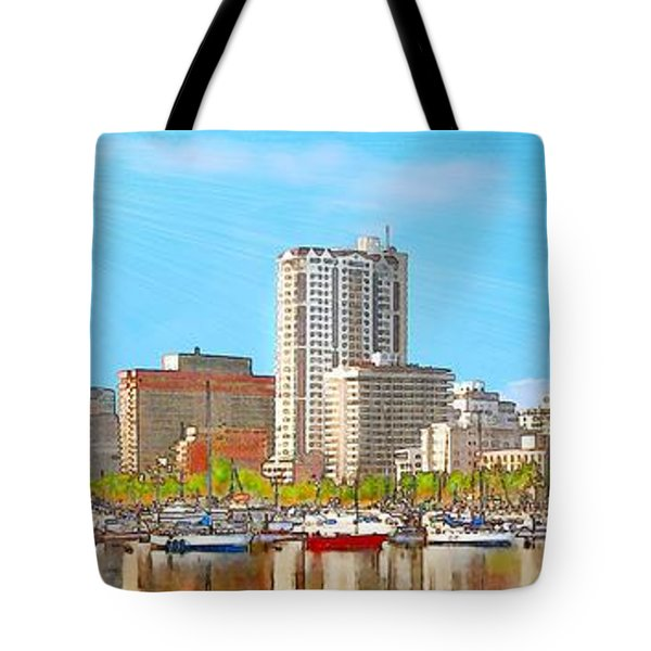 On The Waterfront Tote Bag by Jann Paxton