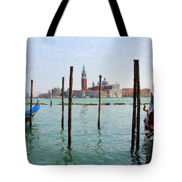 Tote Bag featuring the digital art On The Waterfront by Julian Perry