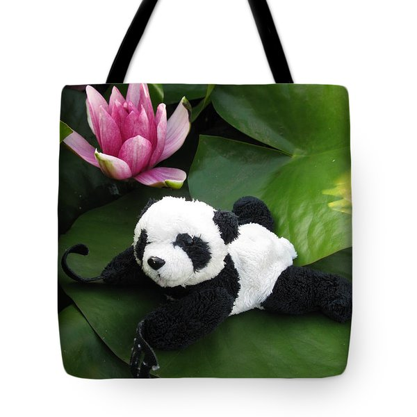 Tote Bag featuring the photograph On The Waterlily by Ausra Huntington nee Paulauskaite