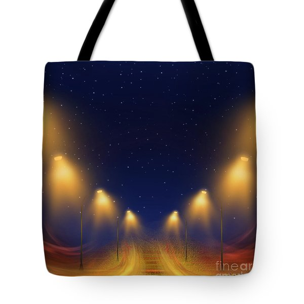 On The Way Home - Digital Painting By Giada Rossi Tote Bag by Giada Rossi