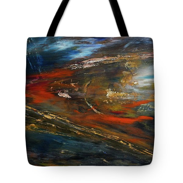 Tote Bag featuring the digital art On The Way by John Hansen