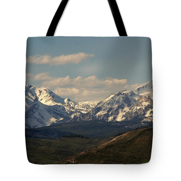 On The Way To Jacksonhole Wy Tote Bag by Susanne Van Hulst