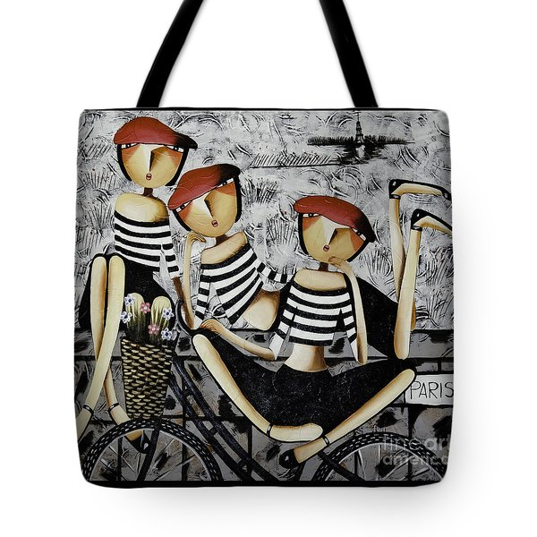 On The Way To  Paris Tote Bag