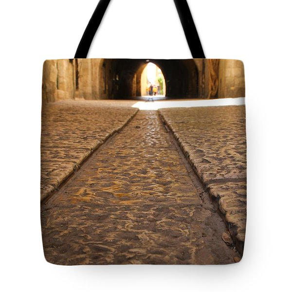 On The Way To The Western Wall - The Kotel - Old City, Jerusalem, Israel Tote Bag by Yoel Koskas