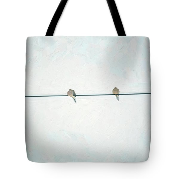 On The Wire Tote Bag
