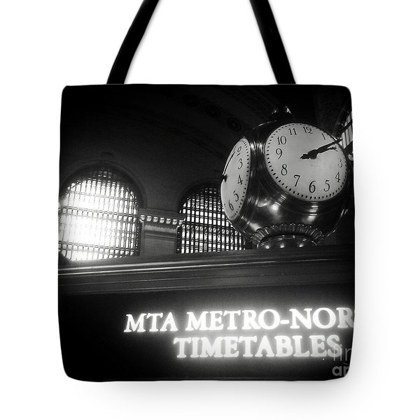 On Time At Grand Central Station Tote Bag
