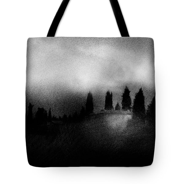 On Top Of The Hill Tote Bag by Celso Bressan