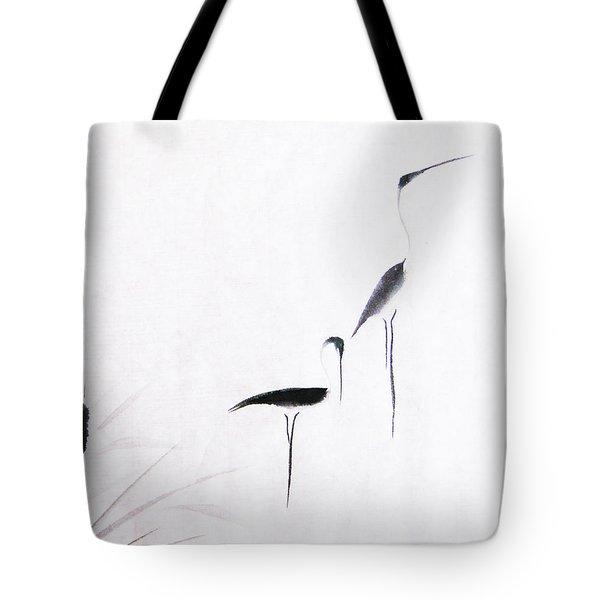 On Typha Pond Tote Bag by Oiyee  At Oystudio