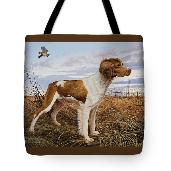 On Watch - Brittany Spaniel Tote Bag