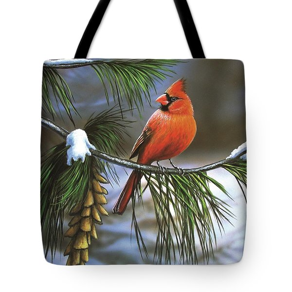 On Watch - Cardinal Tote Bag