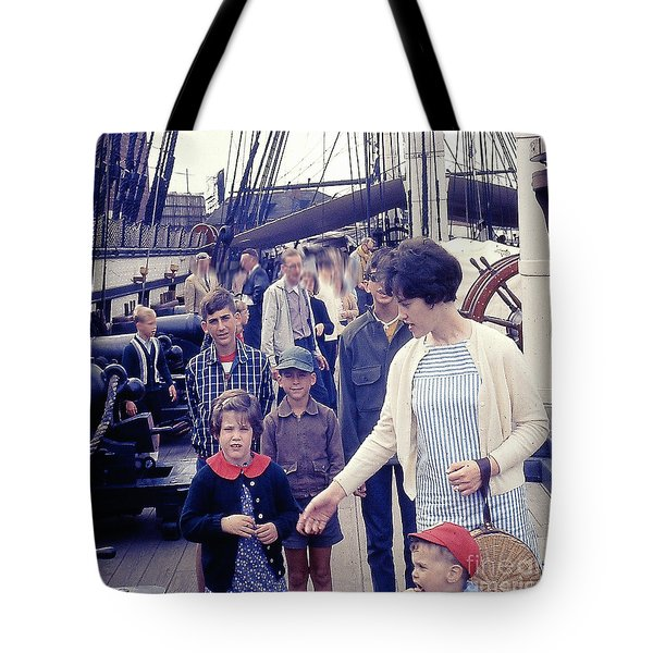 Tote Bag featuring the photograph Onboard The Uss Constitution by Merton Allen