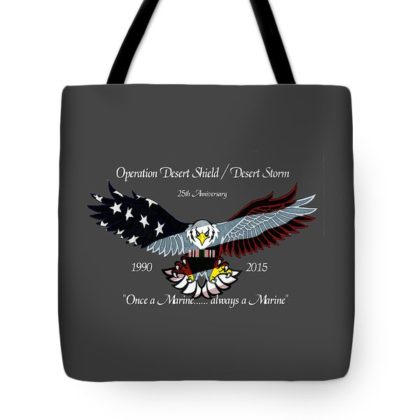 Once A Marine Tote Bag by Bill Richards