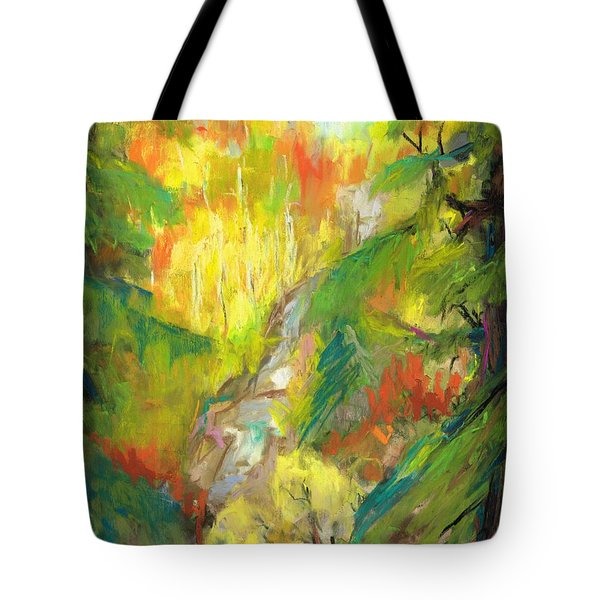 Once A Waterfalls Tote Bag by Frances Marino