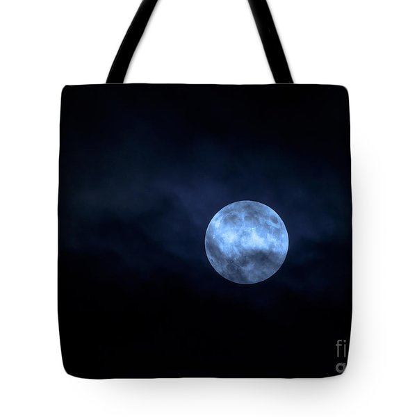 Once In A Blue Moon Tote Bag by Sandy Molinaro