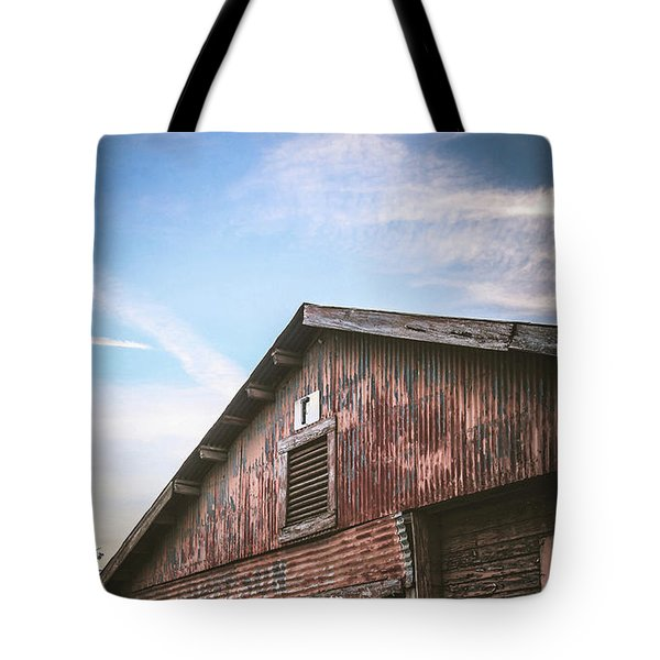 Tote Bag featuring the photograph Once Industrial - Series 1 by Trish Mistric