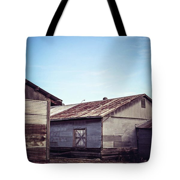 Tote Bag featuring the photograph Once Industrial - Series 2 by Trish Mistric