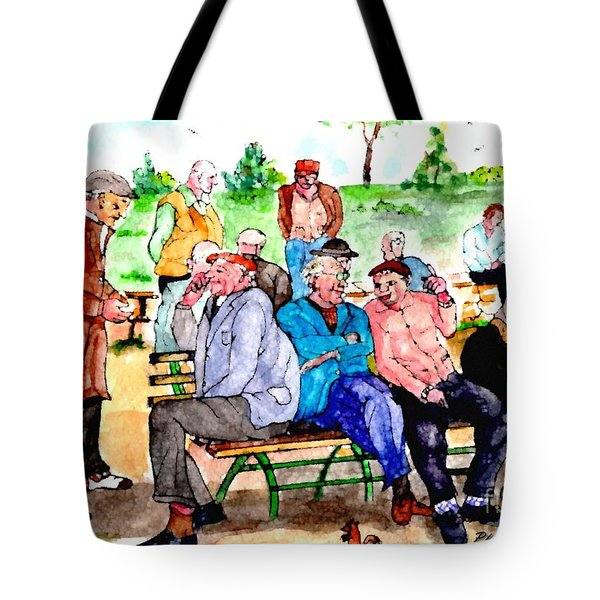 Once Upon A Park Bench Tote Bag