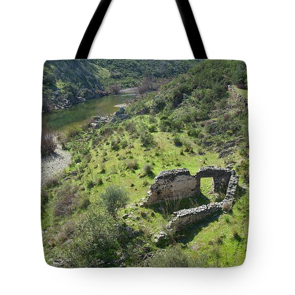 Once Upon A Time A Creek Home Tote Bag by Angelo DeVal
