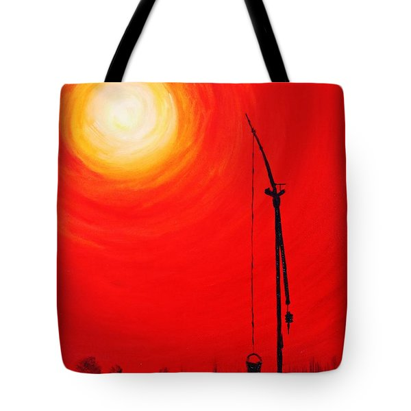 Tote Bag featuring the painting Once Upon A Time...  by AmaS Art