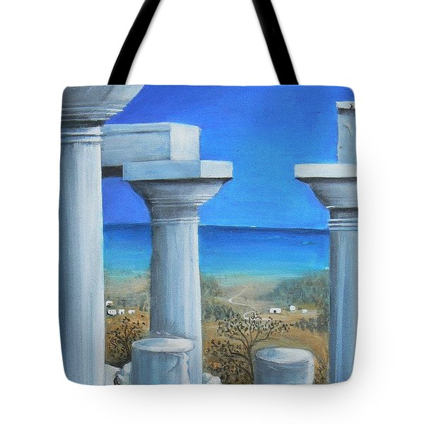 Once Upon A Time In Greece Tote Bag by S G