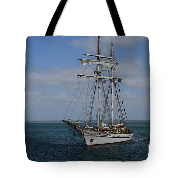 Tote Bag featuring the photograph Approaching Kingscote Jetty by Stephen Mitchell