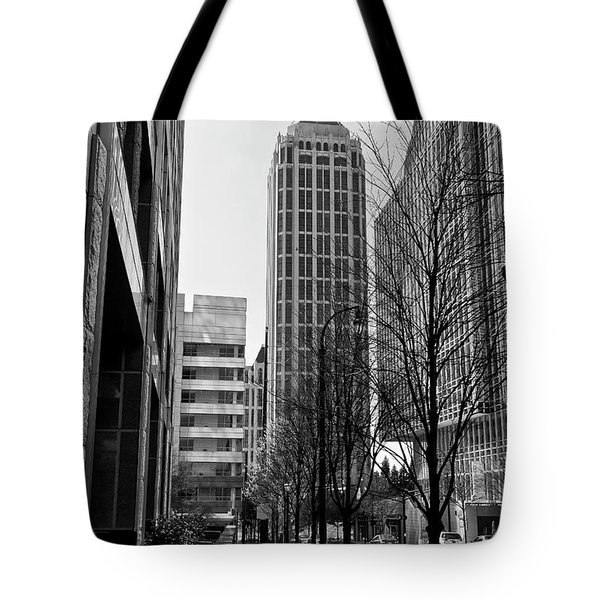 One Atlantic Center In Black And White Tote Bag