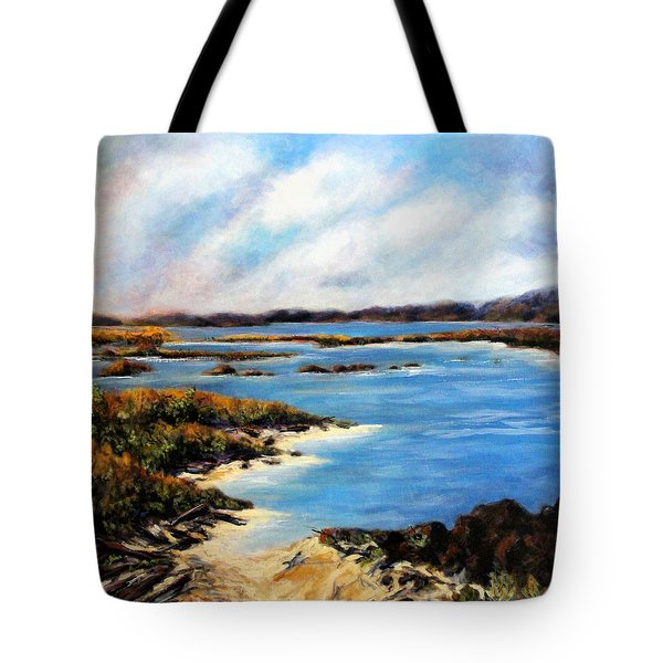 Tote Bag featuring the painting One Beach Washington by Marti Green