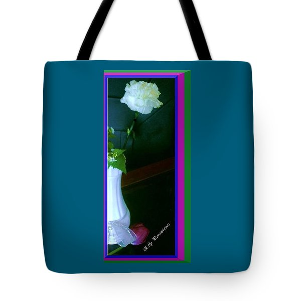One Carnation And One Rose Bud Tote Bag