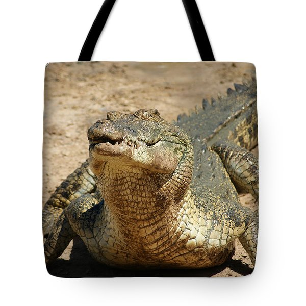 One Crazy Saltwater Crocodile Tote Bag