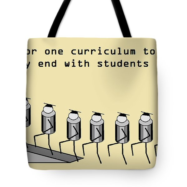 One Curriculum Tote Bag by David S Reynolds