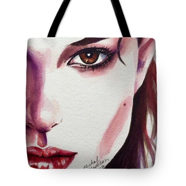 Tote Bag featuring the painting One Decision by Michal Madison