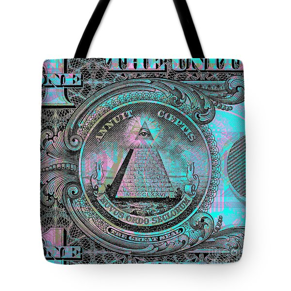 One-dollar-bill - $1 - Reverse Side Tote Bag by Jean luc Comperat