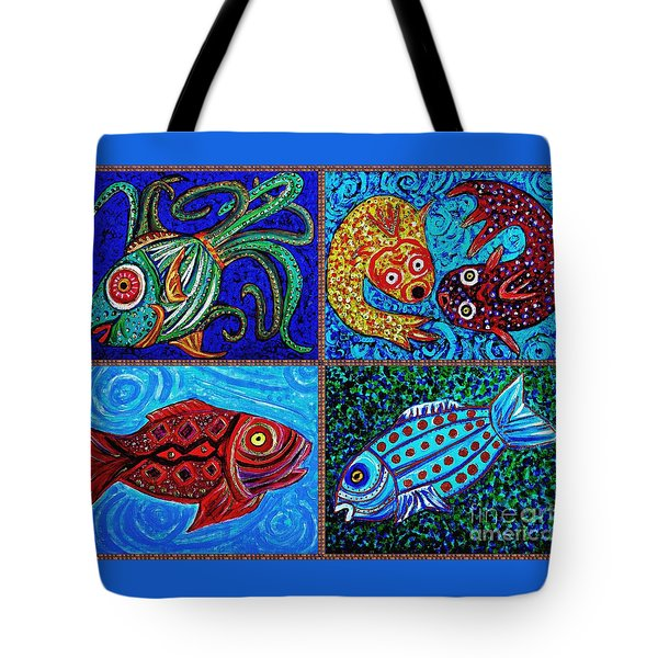 One Fish Two Fish Tote Bag by Sarah Loft