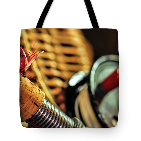 One Fly One Rod One Creel Tote Bag by Pat Cook
