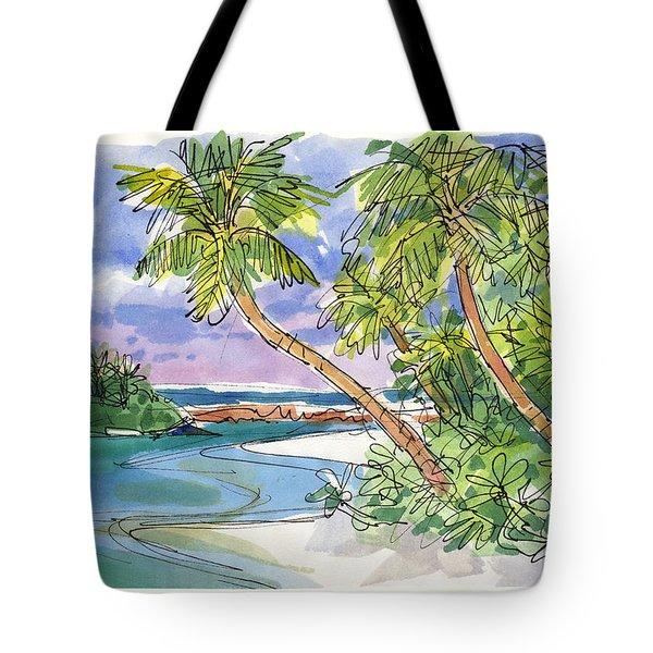 One-foot-island, Aitutaki Tote Bag
