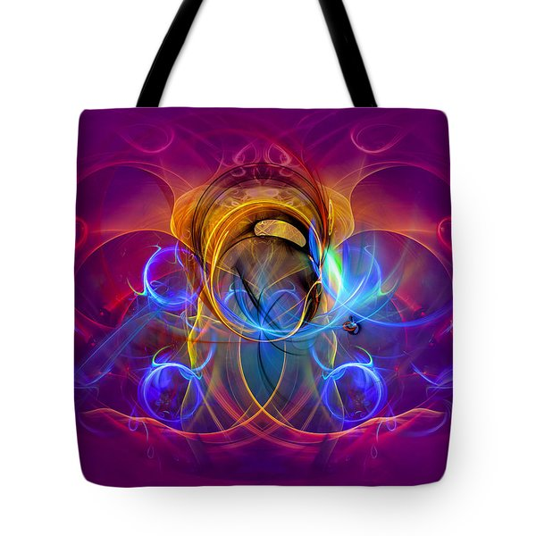 One Happy Morning - Colorful Abstract Digital Modern Art Print Tote Bag