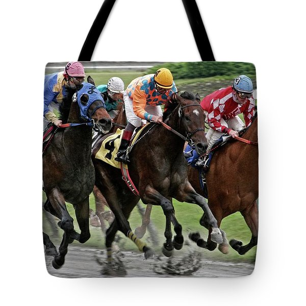 One Hoof Down Tote Bag