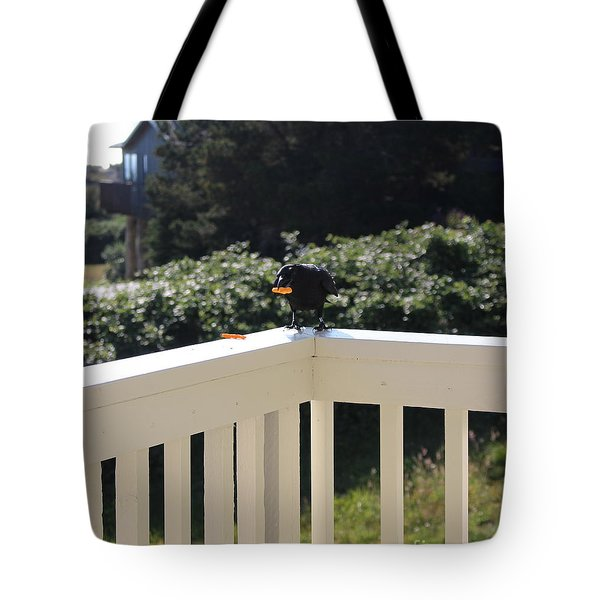 Tote Bag featuring the photograph One In The Mouth Is Worth by Marie Neder