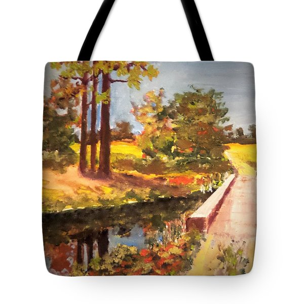 One Lane Bridge Tote Bag