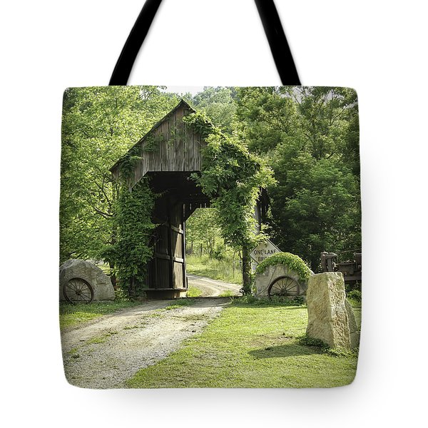 One Lane Covered Bridge Tote Bag