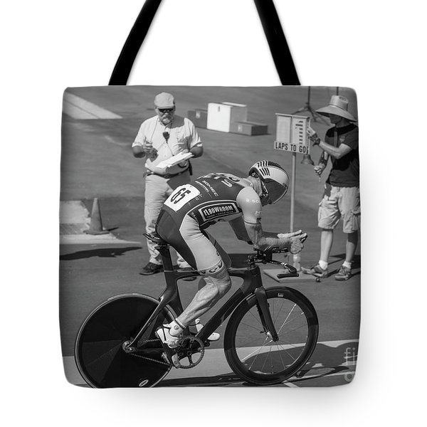 One Lap To Go Tote Bag