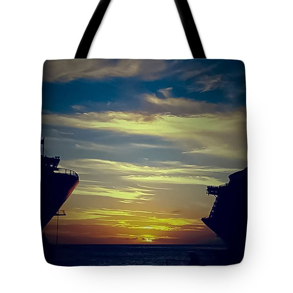 Tote Bag featuring the photograph One Last Glimpse by DigiArt Diaries by Vicky B Fuller