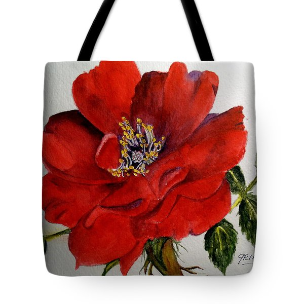 One Lone Wild Rose Tote Bag