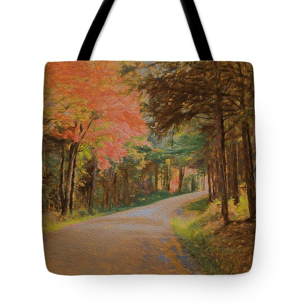 One More Country Road Tote Bag by John Selmer Sr